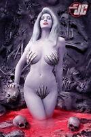 "39 Art Design Girl - Lady Death Bones 14""x21"" Poster"