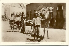Carte postale ancienne YEMEN ADEN native camel carts