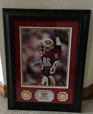 Jerry Rice Autograph 19 by 26 Framed Highland Mint Photo Ltd Ed #5 of only 15