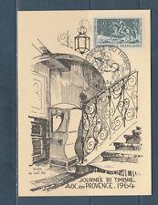 carte  1er jour  journée du timbre   13 Aix en Provence   1964