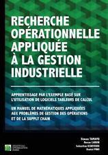 Recherche Opérationnelle Appliquée à la Gestion Industrielle : Apprentissage...