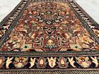 Hand knotted Vintage Bokhara Jhaldar Double Knot Wool Area Rug 2.2 x 1.5 Ft