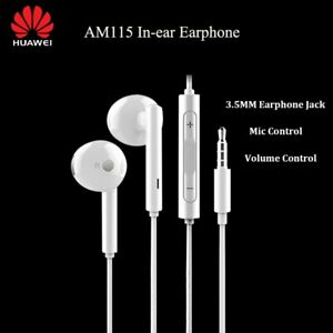 P30 Pro 3.5mm Earphone AM115 Metal Wired Headset For Huawei Horor Mate P8 P9 P20