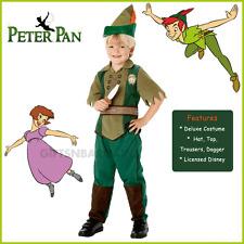 Disney Peter Pan Costume Boys Dlx Book Week Neverland Robin Hood 5-6y Child Kids