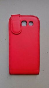 Samsung S3 red leather flip phone case. Never used.