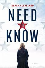 E-Book Need to Know by Karen Cleveland (2018, EPUB) EBOOK