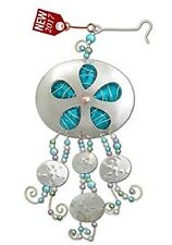 Gemma Sand Dollars Ocean Ornament Metal Fair Trade Pilgrim Imports New