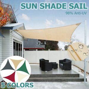 Demiawaking Tenda da Sole per Esterno Tenda a Vela Triangolare Impermeabile Vela Ombreggiante Triangolare Vela Parasole per Esterni Giardino Cortile Arancione Terrazza