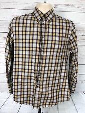 Pendleton Mens Shirt Sz Small Long Sleeve Button-Front Plaid Brown Black S