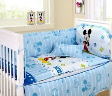 Baby Bedding Crib Cot Sets. 10 Piece Mickey Mouse Theme