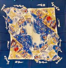 VTG Martin Fierro Jose Hernandez Scarf Rayon 1940s 1950s Fantastic Graphics