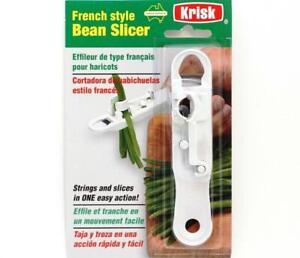 KRISK French Style Runner Bean Slicer. Strings & Slices in one. Easy to Use.