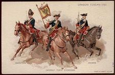 cartolina militare 9° REGG. LANCIERI DI FIRENZE-DRAGONI TOSCANI 1753