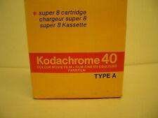 Kodachrome super 8 cartridge colour film, new in pack