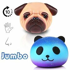 Jumbo Squishies Toy, 2 Pack Squishy Toys Galaxy Panda and Pug Dog, Slow Rising