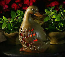 Qvc Home Garden Decor Duck Flameless Candle Ceramic Luminary with Timer