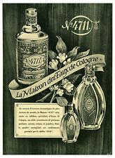 Publicité ancienne Parfum 4711 la maison des eaux de cologne 1941   No 5