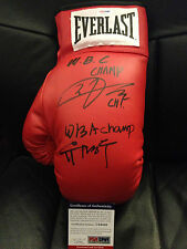 YUH MYUNG-WOO CHI IN-JIN Dual Auto Autograph Everlast Boxing Glove PSA/DNA Korea