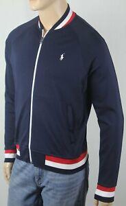 Polo Ralph Lauren Blue Full Zip Sweatshirt Track Jacket White Pony NWT