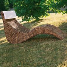 Chaise Longue Resort in intreccio di banano naturale con cuscino