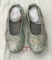 ARCHE  Silver & Blue Snake Leather  Ballet Flats Shoes Size 6.5  EUR 37