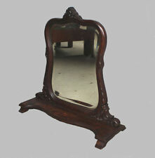 Antique Fancy Oak Vanity Mirror - Sits on a Dresser - Stylish