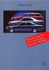 Mercedes-Benz W124 Saloon Coupe Estate sales brochure 1989 German market