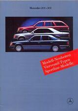Mercedes-Benz W124 Saloon Coupe Estate sales brochure 1989 German market