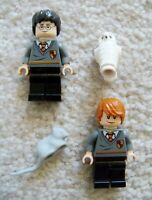 LEGO Harry Potter - Rare - Ron Weasley & Harry w/ Scabbers & Hedwig - Excellent