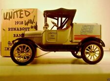 ERTL FORD RUNABOUT 1918 CAR UNITED VAN LINES DELIVERY 1:25 Scale Die Cast