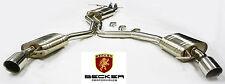 BECKER Cat Back Exhaust Fits 09 10 11 Audi A5 Quattro 3.2L V6 DOHC FSI Catback