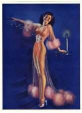 1940s Billy Devorss Pin-Up Print Art Deco Hottie Bids You Goodnight Sweetheart