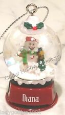 Personalized Snow Globe Ornament - Diana - FREE Shipping