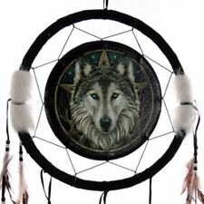 Lisa Parker Wolf Head & Star Dream Catcher Celtic Fantasy Pagan Animal Mystical