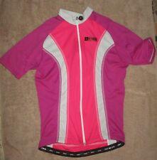 George Hincapie Professional Cycling Jersey Woman's Medium Pink Rose & White