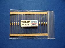 Resistors, carbon film, 1/4 watt-5%-axial leaded - 100000 Ohm (100K) - QTY of 20