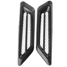 2pcs Car Air Intake Flow Vent Fender Decoration Stickers Side Mesh Cover black
