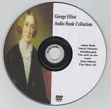 George Eliot 10 Audio Books on MP3 DVD 128hrs Adam Bede Deronda Middlemarch