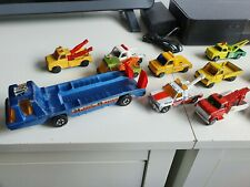 VINTAGE COMMERCIAL COLLECTION OF TRUCKS TOY CARS TO INCLUDE MATCHBOX ETC