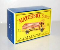 Matchbox Lesney No 51 ALBION CHIEFTAIN Empty Box style D