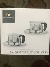 Michael Graves Set Of Two Tea Cups And Saucers