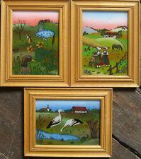::: * Johann Rumpf ingenuas pintura campesina país escenas aldea vista cigüeña naturaleza