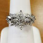 925 Silver Rings for Women Elegant Women Cubic Zirconia Jewelry Gift Sz 6-10