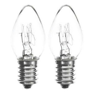 Night Light Bulbs 7W SES - E14 Small Edison Screw 240V Warm White [Twin Pack]