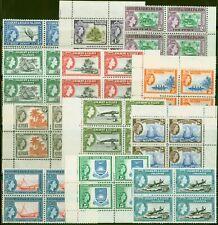 Gilbert & Ellice Is 1956 set of 12 SG64-75 Superb MNH Blocks of 4