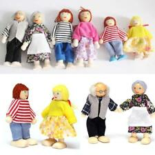 Cute Wooden House Family People Dolls Set Kids Children Pretend Play Toy Gift MT