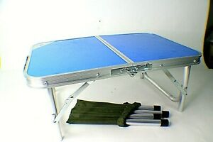 2 ft. Folding Portable Outdoor Picnic Camping Table Adjustable Height Excellent
