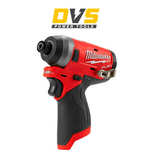 "Milwaukee M12FID-0 12v Fuel 1/4"" Hex Impact Driver Body Only"