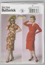 Butterick Sewing Pattern B6266 Making History - Tiered Peplum Dress Sz 14-22