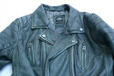 Harley Davidson Women's Overdyed Goatskin Blalck Leather Jacket